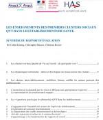 Evaluation des clusters sociaux qualité de vie au travail (QVT) dans les établissements sanitaires et médico-sociaux